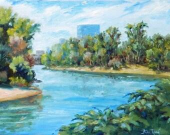 Sacramento River Confluence - original oil painting