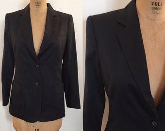 Stephen Sprouse 1980s black cotton blazer