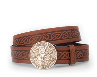 Triskle Buckle & Celtic Belt