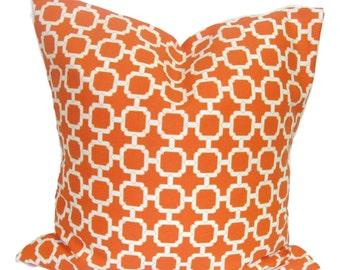 OUTDOOR PILLOWS.Orange Pillow Covers, Orange Pillow, Orange Cushions.  Orange Indoor Outdoor