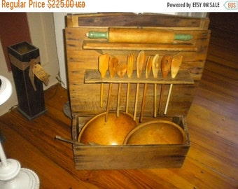 SUMMER SALE SALE.....Awesome Primitive Kitchen Bakers Bin Cabinet, Primitive, Country, Primitive Country, Farmhouse