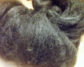 Black Alpaca Roving,  8 oz   CPBA
