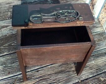 Vintage Shoe Shine Box w/o Cast Iron Shoe Rest