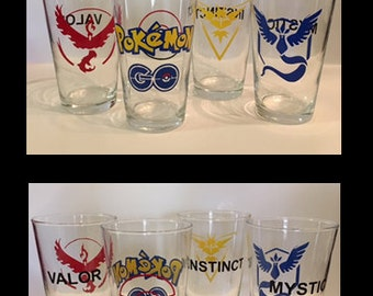 Pokemon Go Pint Glasses