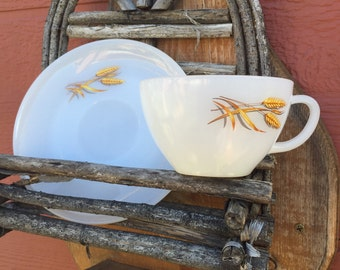 1960's Vintage Fireking cup and saucer set