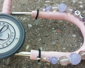 Lilac Breeze PERSONALIZED STETHOSCOPE ID Chain, Name Personalization, Nurse Bling, Nurse Eye Candy