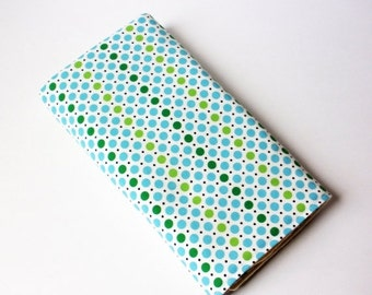 Clearance Dots Baby Changing Pad - Blue, Green and Black Polka Dots Baby Changing Mat