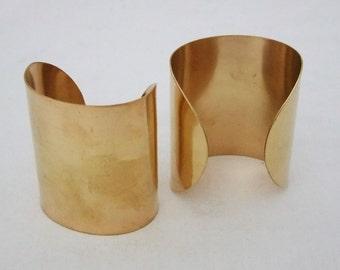 Brass Bracelet Cuff Blanks For Jewelry Making 3 inch Pkg Of 2