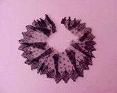 Pretty Little Scrap of Black Victorian Net Lace