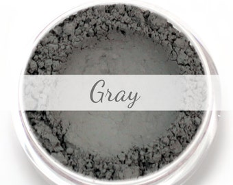 Gray Eyebrow Powder Sample - Vegan Mineral Eye Brow Powder Grey Net Wt .4g Mineral Makeup Pigment
