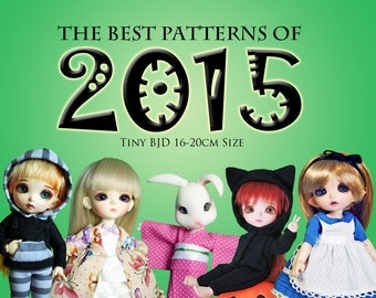 Best of 2015 Tiny BJD Fashions Value Pack! clothes pattern for Tiny BJD sized dolls: Pukifee Lati Yellow, Tiny Delf & Similar