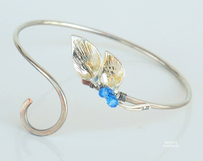 Lilies bangle ~ Copper wire ~ Handmade