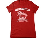 christmas vacation shirt griswold ladies womens girls funny holiday t-shirts xmas red wally world humor humorous small medium large xl 2x