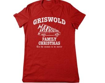 christmas vacation shirt griswold ladies womens girls funny holiday t-shirts xmas red wally world humor humorous small medium large xl 2x