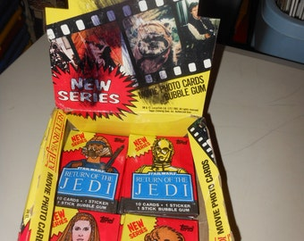 1983 Return Of The Jedi trading cards pack -  star wars - original vintage sealed