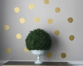 Handpainted Gold Dots Preppy Pattern™ Wall Decals-The Look of Wallpaper by Southern Nest