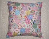 Patchwork Cushion Cover - Hexagons in Cath Kidston & Vintage Laura Ashley Fabrics