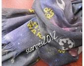 sale Galaxy printed-Galaxy scarf-Nebula space scarves-star wars scarf-Long shawl scarf-man fashioN-woman-unisex MAN SCARVES,2016 fashion tre