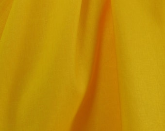 Yellow Linen Fabric, Solid Yellow Fabric, Solid Fabric, Linen Material, Solid Linen, Plain Fabric - 2 1/3 Yards - CFL1912
