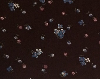 Cotton Fabric / Peter Pan Fabrics Burgundy Cotton Fabric / Floral Cotton Fabric / Quilting Fabric / 2/3 Yard