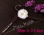 3 DAYS SALE--RUSH order Wedding hanger, custom wire hanger, bridal hanger, bride gift, bridesmaids gift, custom made hanger