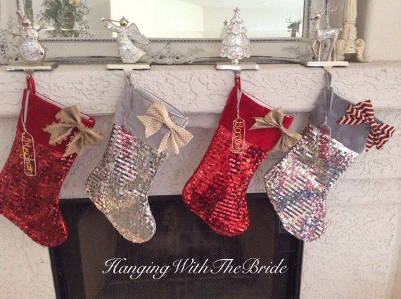 Personalized Christmas stocking, Christmas decor, Holiday decor, Name Stocking