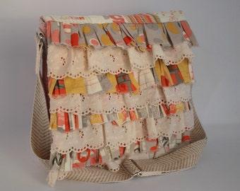 Mini Cross-Body Messenger Shoulder Bag with Adjustable Strap