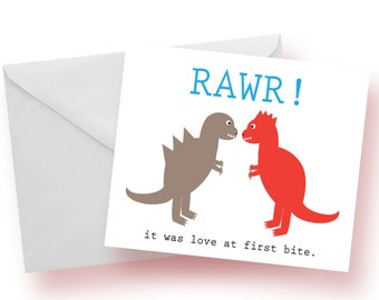 Dino Love Notecards: Set of 10