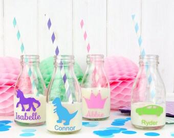 Personalised Glass Milk Bottle