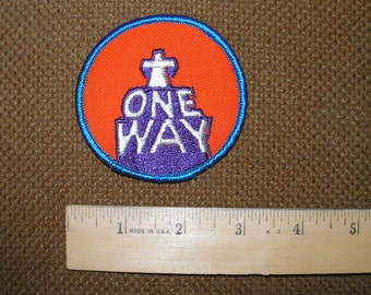 "Vintage patches from 1970's ""One Way"""