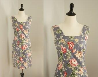 vintage floral dress | 1990s dress
