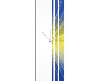 Large Modern Clock 'Starlight Triple Stripe Clock' by Adam Schwoeppe - Wall Decor Minimalist Accent Piece on Acrylic