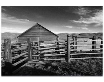 Western Art 'Old West Farm' by Slade Reiter - Rustic Decor Southwest Landscape Art on Metal or Acrylic