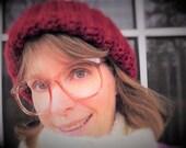 Big Eyeglasses, Vintage Eyeglasses, Translucent Copper Pink Glasses, Vintage 1980s Womens Eyeglasses, New Old Stock