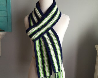 Seahawks inspired scarf