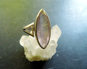 Silver ring, sterling silver, Rose Quartz, faceted jewellery, silver, pink,