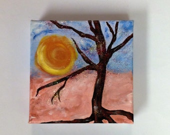 Rooted-Abstract Acrylic Tree