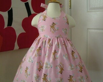 Custom Made to Order Disney Bambi party dress Sz 12M to 6T