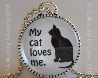 Cat Lover Pendant Necklace Jewelry