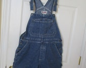 Bib overall shorts, overall shorts, denim bib overall shorts Womens size Small