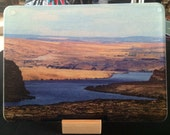 Glass Cutting Board - Columbia Gorge  v2 - 7.75 in  x 10.75 in