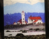 "Glass Trivet - Lighthouse 6"" x 6"""