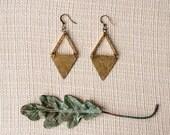 IRIT Triangle Brass Earrings
