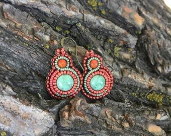 OOAK Beaded Earrings