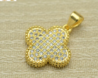 Gold plated beads,rhinestone crystal bead,copper beads,pendant charms 16x16mm