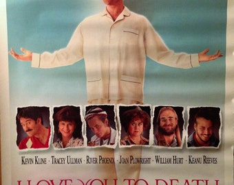 Movie Poster, I Love You To Death, 1990 with Kevin Kline.
