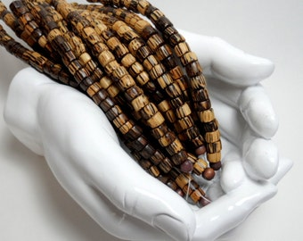 Wood rondelle beads, 7mm - one strand, 27 beads