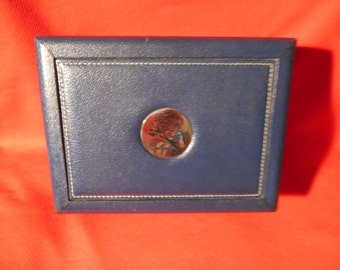 One (1), Rolex, Cellini, Blue Leather & Wood, Outer Box, Only.
