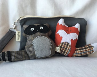 Forest Animal Rattles with carrying case
