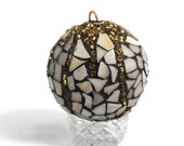 Christmas Ornament, Mosaic Ornament, Stained Glass Ornament, Holiday, Glass Ornament, Christmas Decor, Tree Ornament, Earth Tone Ornament
